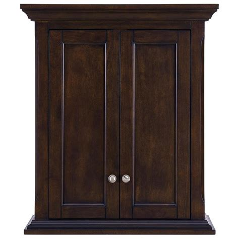 Mahogany Bathroom Wall Cabinet by Living Roveland 24 In W X 28 In H X 10 In D Mahogany