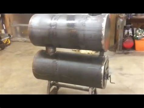 build  homemade double barrel garage heater