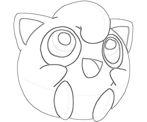 Jiggly Puff Kleurplaat by Jigglypuff Character Coloring Page