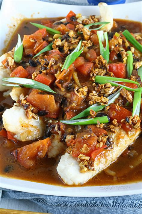 steamed fish  black bean sauce foxy folksy