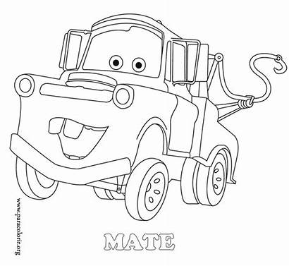 Coloring Mater Mcqueen Lightning Tow Mate