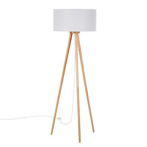 staande lamp tripod stabilo massief houtgeweven stof