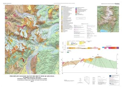 preliminary geologic map of the mount quadrangle washoe county nevada map and text