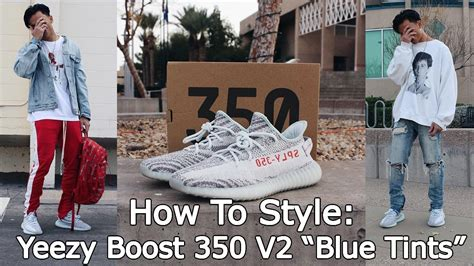 How To Style Yeezy Boost 350 V2 u0026quot;Blue Tintsu0026quot; - YouTube