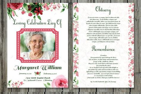 funeral prayer cards templates   aashe