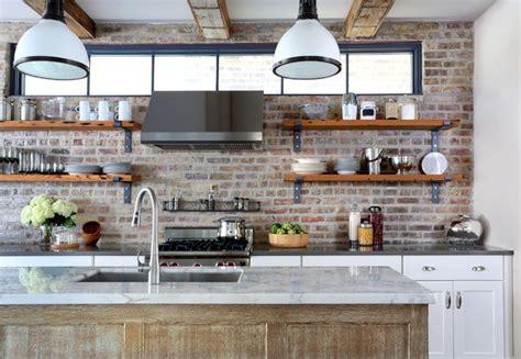Exposed Brick Kitchen Backsplash Inspires-eclectic