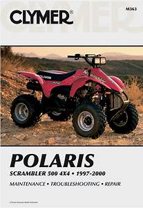 Clymer Repair Manual For Polaris Scrambler 500 4x4 1997