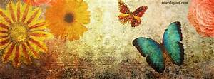 Fall Autumn Butterfly Flowers Facebook Cover, Fall Autumn ...
