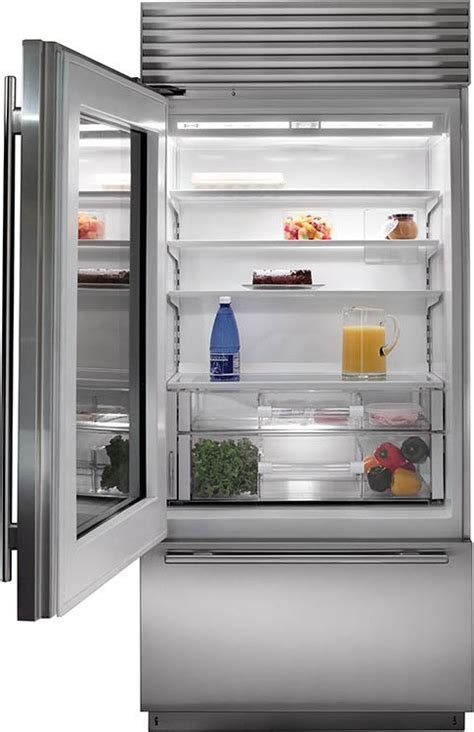 "Subzero BI 36UG/O 36"" Built In Glass Door Over and Under"