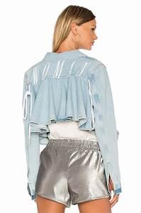 Lyst - Off-White C/O Virgil Abloh Ruffle Denim Jacket in Blue