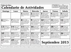 Calendario con actividades para hacer con nuestros hijos e