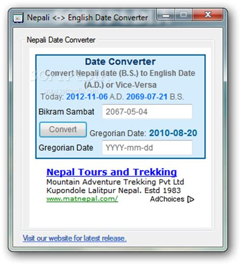 Converter nepali to english date télécharger software