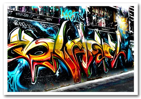 Graffiti Poster : Graffiti Abstract Art Urban Framed Art Giclee Art Print