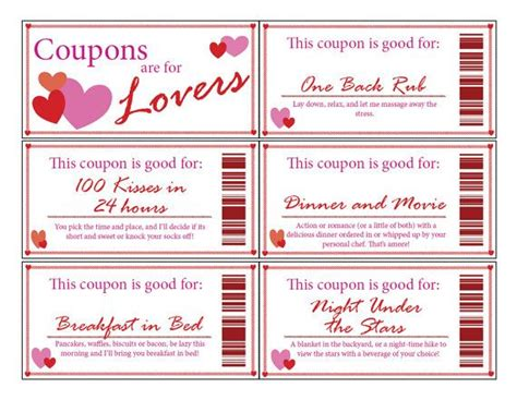 Printable Love Coupon Booklet Clean Man Stuff Pinterest Love Cleanses And Coupon