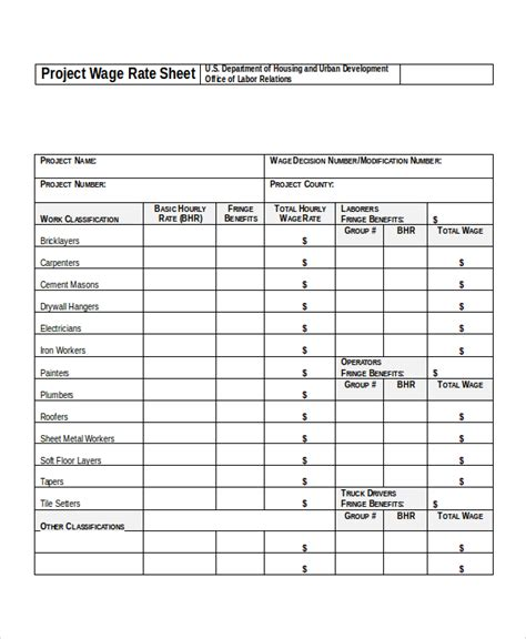 rate sheets templates rate sheet template 14 free word excel pdf document free premium templates