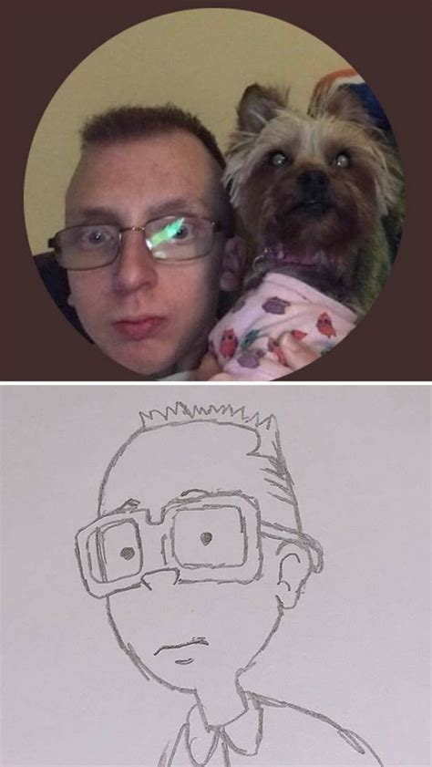 guy  drawing hilarious peoples twitter profile pics