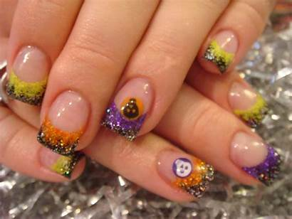 Halloween Manicure Nails Acrylic Nail French October
