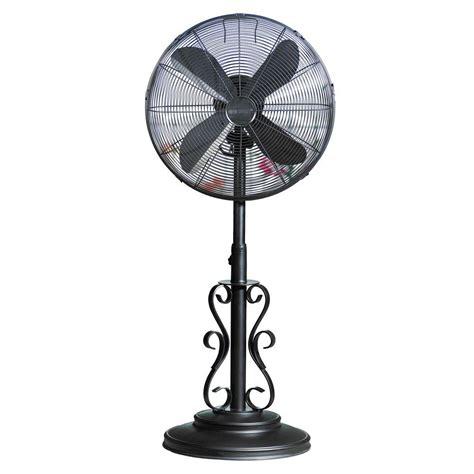outdoor standing fans lowes deco breeze 19 in ebony outdoor fan dbf0624 the home depot