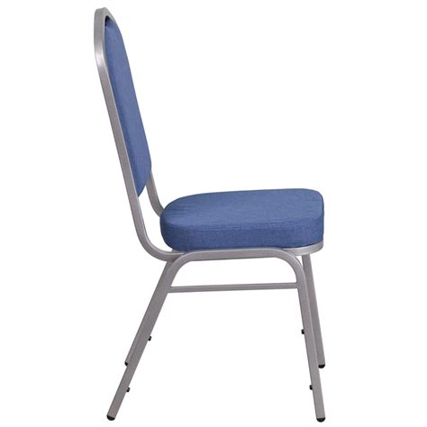 hercules series crown back stacking banquet chair in blue