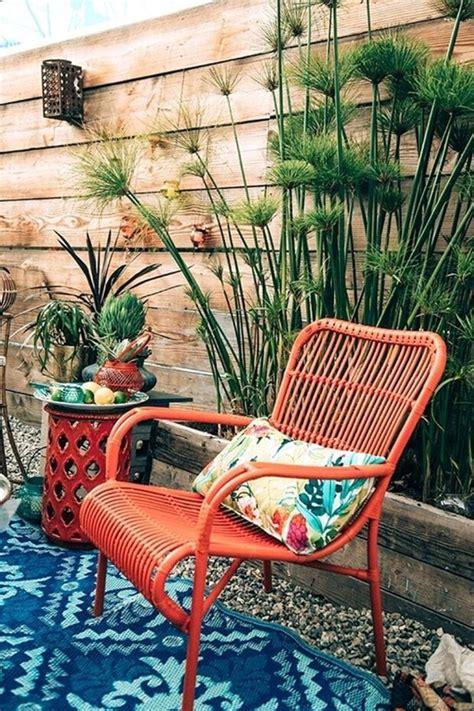 magnifiques designs de terrasse exterieure boheme pour