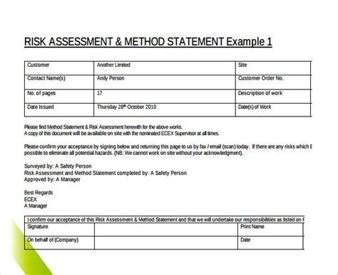 Safe Work Method Statement Template - Costumepartyrun