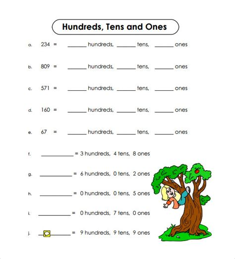 sample place  worksheet   documents   word