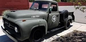 1955 Ford F250 Truck Military Style V8 Runs  U0026 Drives