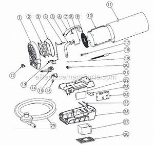 Mr  Heater Mh35clp Parts List And Diagram