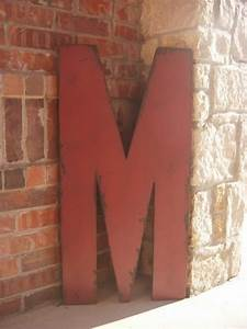 3 foot tall wood letter m marquee style 36 inch large With 3 foot letters