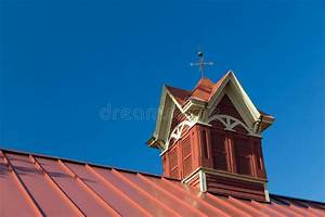 fancy red barn cupolas stock photos image 34378293 With barn roof cupola
