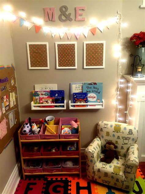 create  toy  reading corner   main living area