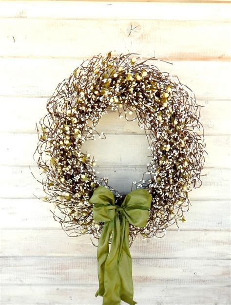 Large Wedding Wreath Winter Wedding Decor Sage And Cream