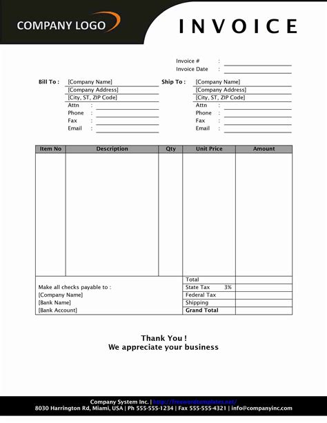 simple sales invoice sd style word templates  word