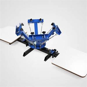 4 Color Screen Printing Press Kit Machine 2 Station Silk ...
