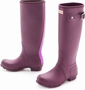 Hunter Original Stripe Boots Bright Plum in Purple (Bright ...