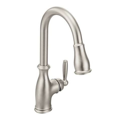 Moen Brantford Kitchen Faucets moen brantford lead free single handle pull out kitchen faucet