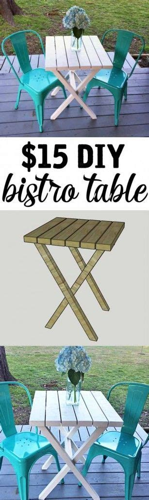 bistro table building plans    diy wood