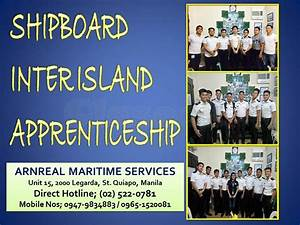 Inter Island Apprenticeship Foe Deck Cadet And Engine