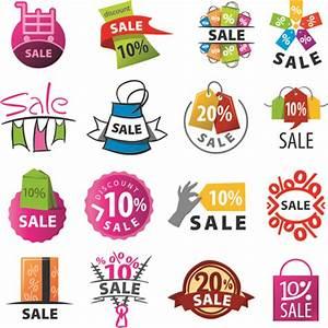 Exquisite sale logos vector set Free vector in ...