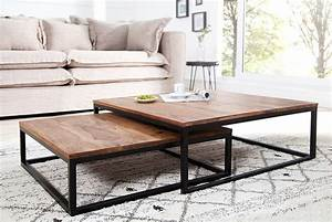 Table De Salon Bois : table de salon design en bois table basse avec plateau en verre trendsetter ~ Teatrodelosmanantiales.com Idées de Décoration