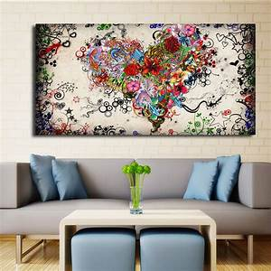 Modern Big canvas wall art canvas painting Watercolor ...