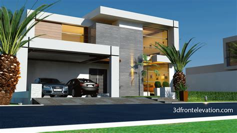 Beautiful Modern Floor Plans by 3d Front Elevation Beautiful Contemporary House