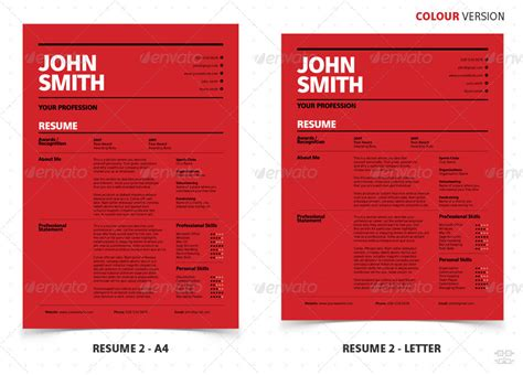 graphicriver professional resume cv