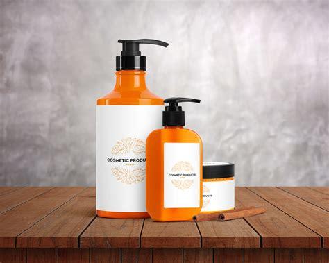 Simple cosmetic cream jar along with paper box mockup. Cosmetic Bottles and Jar - Free PSD Mockup | Free Mockup