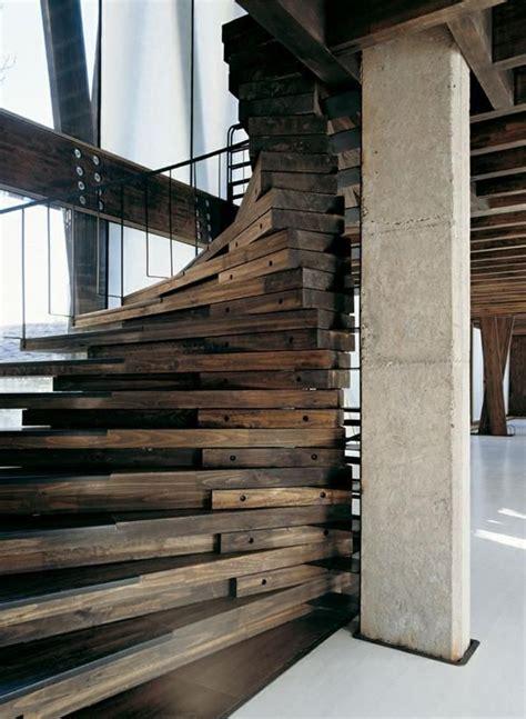 Moderne Und Kreative Innenraum Holztreppenelegante Holz Innentreppe by Originelle Treppen Aus Holz Selber Machen Treppe