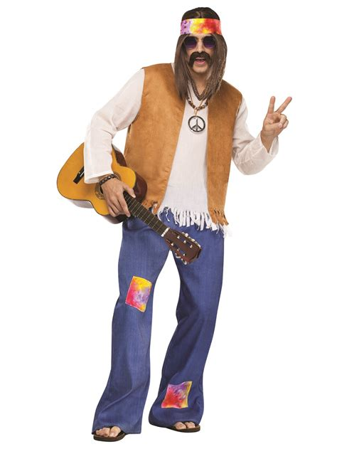 Adult Hippy Male Costume - 116204 - Fancy Dress Ball