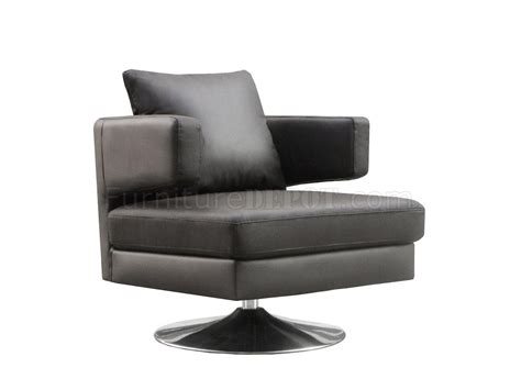 chocolate white or black leather modern swivel club chair