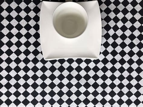 and white checkered tablecloth black and white checkered tablecloth linen tablecloth retro