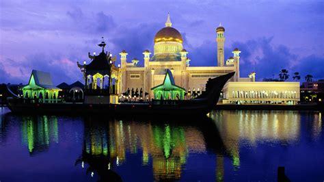 full hd wallpaper sultan omar ali saifuddin mosque