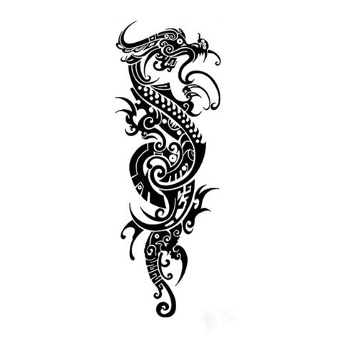 tatouage ephemere dragon tribal xl xcm pas cher